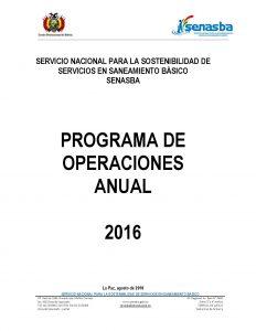 POA Presupuesto 2016