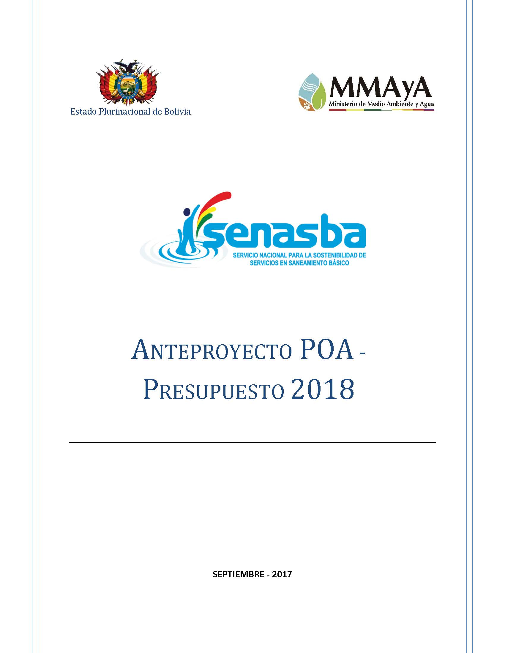 POA Presupuesto 2018