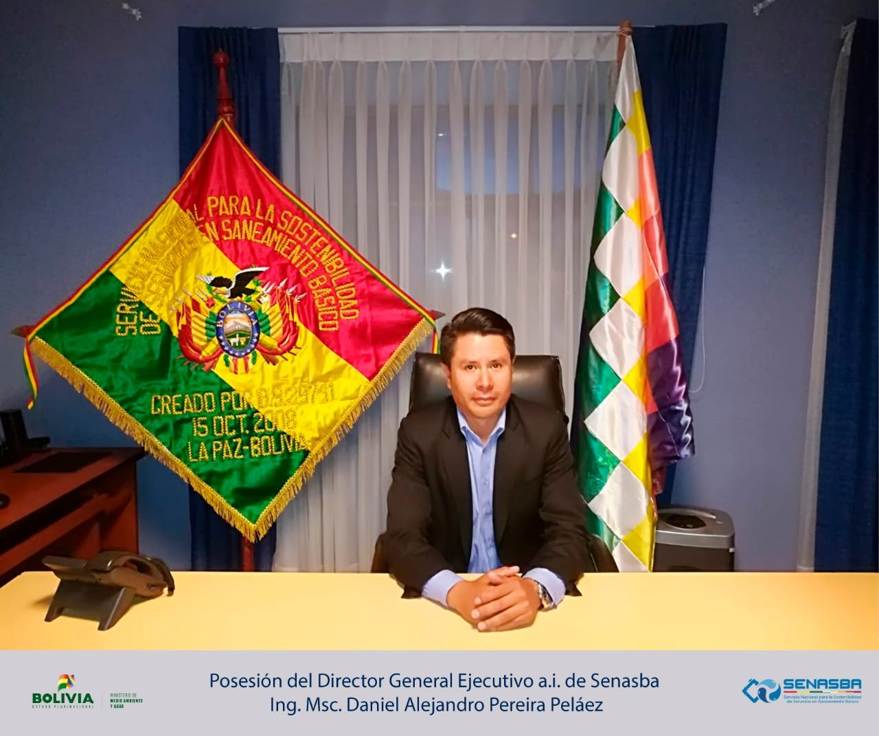 Se posesiona al Ing. Msc. Daniel Alejandro Pereira Peláez como nuevo Director General Ejecutivo del SENASBA