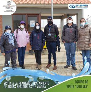 El Director General Ejecutivo de SENASBA Ing. Daniel Pereira realizó una visita a la Planta de Tratamiento de Aguas Residuales de Viacha.