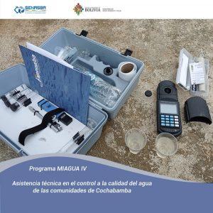 ASISTENCIA TÉCNICA EN EL CONTROL A LA CALIDAD DE AGUA EN LAS COMUNIDADES DE COCHABAMBA