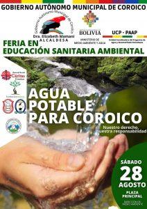 "Feria en Educación Sanitaria Ambiental ""AGUA POTABLE PARA COROICO"""