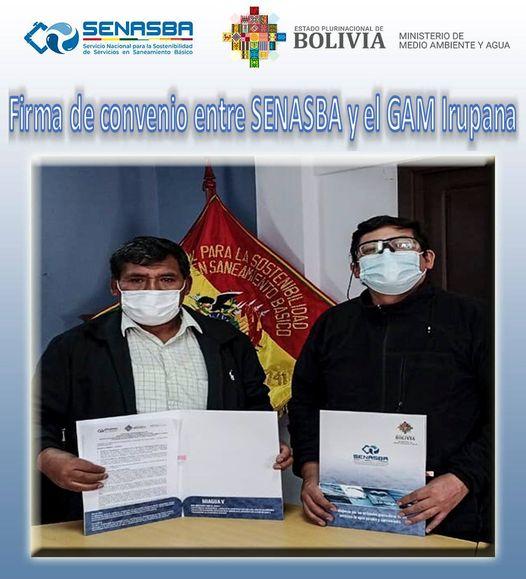 FIRMA DE CONVENIO CON EL MUNICIPIO DE IRUPANA