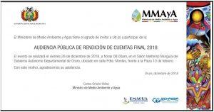 Audiencia Publica de Rendición de Cuentas Final 2018