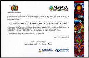 Audiencia Publica de Rendición de Cuentas Inicial 2019